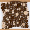 Emser Tile Lucente Random Sized Glass Pebble Tile in Brown