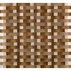 Emser Tile Lucente Tromba Random Sized Glass Mosaic Tile in Brown