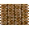 Emser Tile Lucente Venezia Random Sized Glass Mosaic Tile in Brown