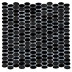 Emser Tile Confetti Porcelain Mosaic Tile in Black