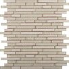 Emser Tile Lucente Random Sized Glass Mosaic Tile in Ivory