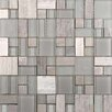 Emser Tile Lucente Random Sized Glass Mosaic Tile in Multi-colored