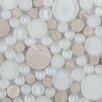 Emser Tile Lucente Random Sized Glass Pebble Tile in Ivory