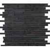 Emser Tile Metro Marble Mosaic Tile in Black