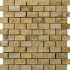 Emser Tile Natural Stone Random Sized Travertine Mosaic Tile in Gold