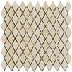 "Emser Tile Natural Stone 1.25"" x 2"" Travertine Mosaic Tile in Ancient Beige"