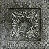 "Emser Tile Camelot 4"" x 4"" Igraine Deco in Silver"