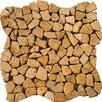 Emser Tile Natural Stone Random Sized Travertine Mosaic Tile in Oro