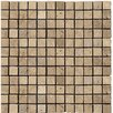 "Emser Tile Natural Stone 1"" x 1"" Travertine Mosaic Tile in Mocha"