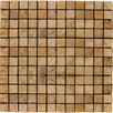 "Emser Tile Natural Stone 1"" x 1"" Travertine Mosaic Tile in Oro"