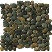 Emser Tile Rivera Random Sized Marble Pebble Tile in Green