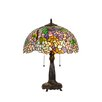 """Chloe Lighting Wisteria Phoebe 21.85"""" H Table Lamp with Bowl Shade"""