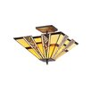 Chloe Lighting Mission 2 Light Progressive Semi Flush Mount