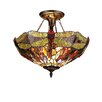 Chloe Lighting Dragonfly 2 Light Dragon Semi Flush Mount