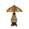 "Chloe Lighting Dragonfly Anisoptera Purity 25.2"" H Table Lamp with Bowl Shade"