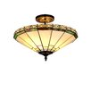 Chloe Lighting Mission 2 Light Belle Semi Flush Mount