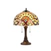 """Chloe Lighting Victorian Claire 22.8"""" H Table Lamp with Bowl Shade"""