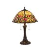 "Chloe Lighting Victorian Bertram 21.7"" H Table Lamp with Bowl Shade"