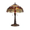 """Chloe Lighting Dragonfly Dragon 23"""" H Table Lamp with Bowl Shade"""