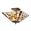 Chloe Lighting Mission 2 Light Farley Semi Flush Mount