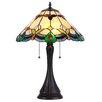 "Chloe Lighting Jorgie 16"" H Table Lamp with Bell Shade"