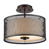 Chloe Lighting Audrey 2 Light Semi Flush Mount