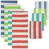 Design Imports 8 Piece Cabana Stripe Heavyweight Dishtowel and Dishcloth Set