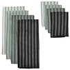 Design Imports 8 Piece Tripe Microfiber Towel and Cloth Set