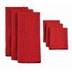 Design Imports 6 Piece Heavyweight Dishtowel and Dishcloth Set
