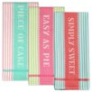 Design Imports 3 Piece Sweet Shoppe Jacquard Dishtowel Set