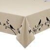 Design Imports Bird Burlap Printed Tablecloth