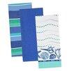 Design Imports 3 Piece Sea Dishtowel Set
