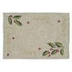 """Design Imports """"Merry Christmas"""" Embroidered Placemat (Set of 6)"""