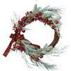 """Design Imports 22"""" Frosted Sprig Wreath"""