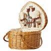 Picnic Time Heart Picnic Basket