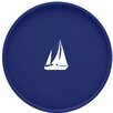 "Kraftware Sailboat 16"" Round Serving Tray"