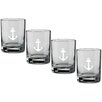 Kraftware Kasualware Designs Anchor 14 Oz. Double Old-Fashioned Glass (Set of 4)
