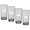 Kraftware Kasualware Designs Butterfly 16 Oz. Highball Glass (Set of 4)