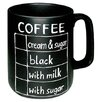 Könitz Porzellan GmbH Chalk Talk Coffee Mug (Set of 4)