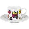 Könitz 4-tlg. Porzellanbecher Espresso Owls