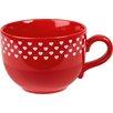 Könitz Porzellan GmbH Love Sweetheart Jumbo Cup in Polka Red (Set of 4)