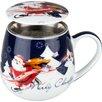 Könitz 8,9 cm Tea for you Merry Christmas-Weihnachtselch aus Porzellan