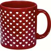 Waechtersbach Germany Cherry Red Sweet Heart Mug (Set of 4)