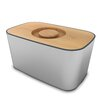 Joseph Joseph 100 Steel Bread Bin with Reversible Cutting Board Lid