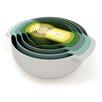 Joseph Joseph Nest™ 9 Piece Plastic Mixing Bowl/Measuring Spoon Set