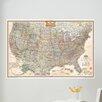 WallPops! Wall Art Kit National Geographic USA Map Wall Mural
