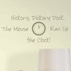 WallPops! Baby Hickory Dickory Dock Nursery Rhyme Wall Decal