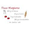 WallPops! Home Decor Line Pizza Margherita Recipe Quote Wall Decal