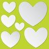 WallPops! WallPops Hearts Mirror Wall Decal