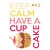 WallPops! Home Decor Line Keep Calm and Cupcake Quote Wall Decal